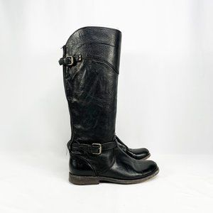 FRYE Women's Phillip Riding Boots Black Leather